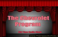 The Chevrolet Program   Musical Moments, 086 First Song   Broadwa...
