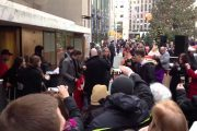 Actor Ethan Hawke arriving at Today Show to talk about MACBETH Br...