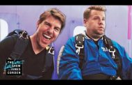 Tom Cruise Forces James Corden to Skydive...